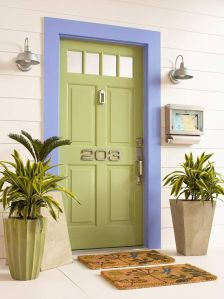 "Click on the door to open a wonderful article from Better Homes and Gardens to ""Refresh Your Front Entry"""